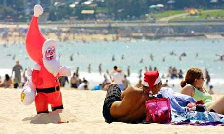 Summer holiday … Bondi Beach in Sydney, Australia, on Christmas Day.