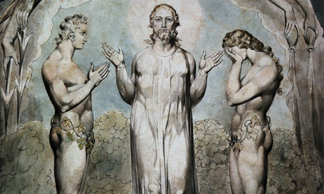 Detail from The Judgement of Adam and Eve by William Blake, from his illustrations for John Milton's