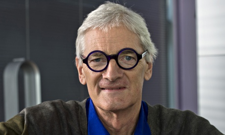 James Dyson, wearing glasses