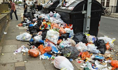 Refuse collectors' strike in Brighton