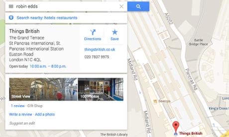 Robin Edds's Google results.
