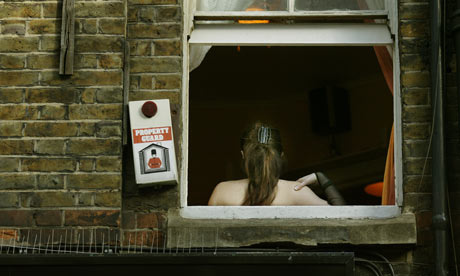 Sex worker in Soho, London. Photograph: Dan Chung
