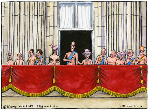 19.09.12: Steve Bell on topless photos and the royal family