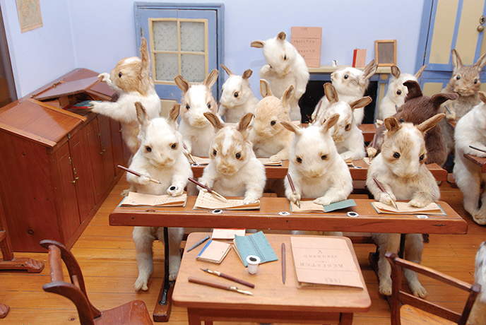 walter potter bunnies taxidermy