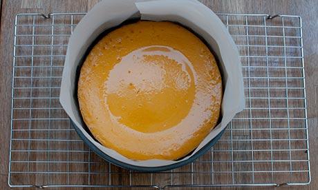 Dan step 3: puree pumpkin, sugar, zest, vanilla. Add cream cheese, puree; add labne, eggs; puree