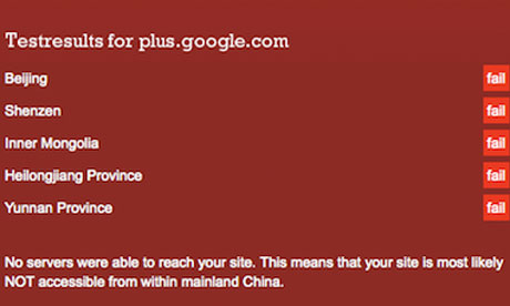 Google+ blocked in China
