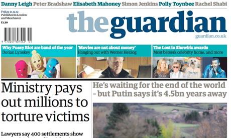 A newspaper <header>