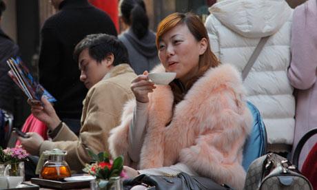 Shanghai woman in fur coat