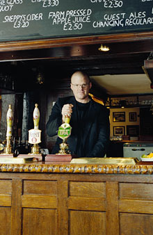Heston Blumenthal in The Hinds Head