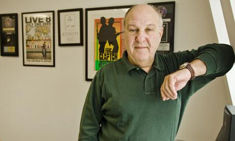 Harvey Goldsmith in his office in Regent Street, London