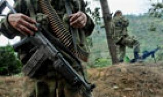 Members of the Farc in Colombian countryside