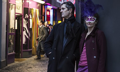 Rupert Everett with Niki of the English Collective of Prostitutes