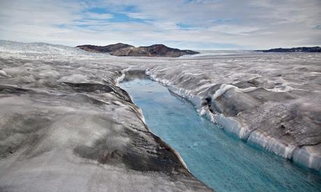 Dark snow Greenland