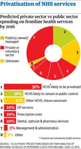 NHS privatisation chart
