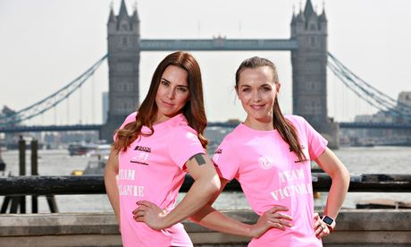Melanie C and Victoria Pendleton