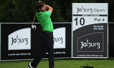 Robert Rock plays a drive at the Joburg Open