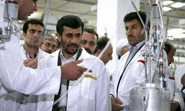 Iranian president Mahmoud Ahmadinejad in 2008