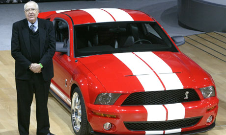 Carroll Shelby with the 2006 Ford Shelby Cobra GT500