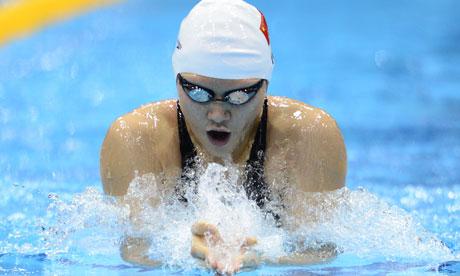 China's Ye Shiwen competes in the women's 200m individual medley heats