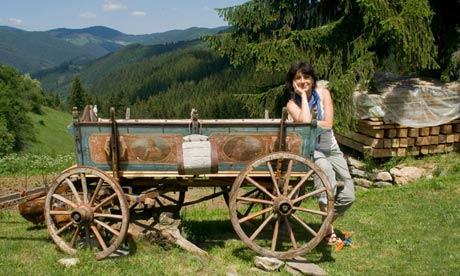 Kapka Kassabova at Villa Gella, 'a new lodge with positively lyrical views over the mountains'. Photograph Tony Davidson