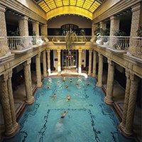 Indoor baths at Budapest's Gellert Hotel.