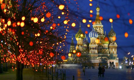 Christmas in Red Square, Moscow. Misha Japaridze