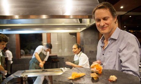 Claus Meyer in the Gustu kitchen, La Paz, Bolivia