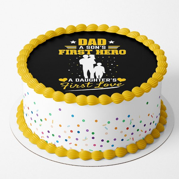 Dad Son S First Hero Daughter S First Love Cake By Cakezone Gift Regular Cakes Online Buy Now Halfcute