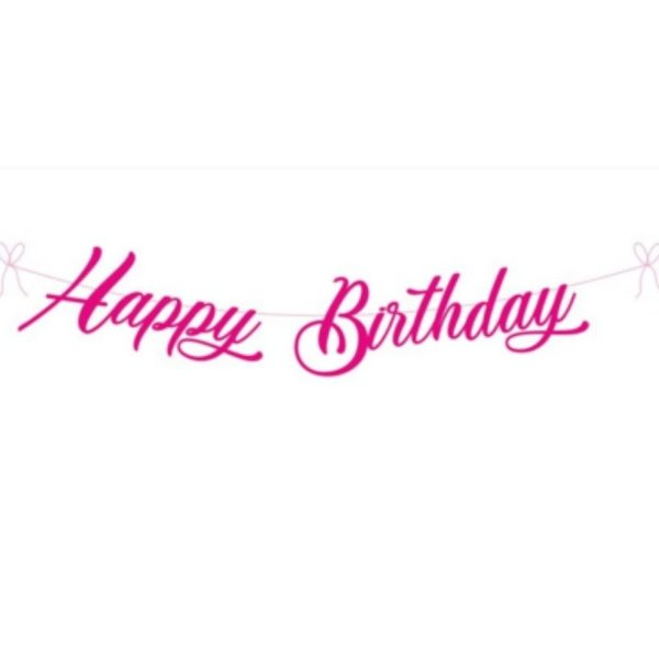 Pink Happy Birthday Banner By Untumble Gift Banners Online Buy Now Halfcute