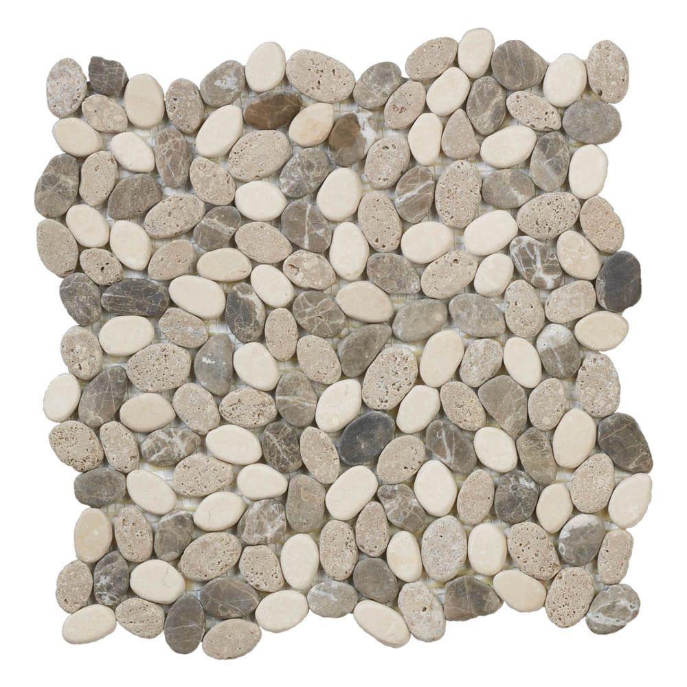 jeffrey court emperador river rocks 11 5 in x 11 5 in x 10 mm marble mosaic floor wall tile tan