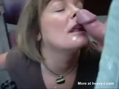 Blonde Mom Giving Blowjob In Office