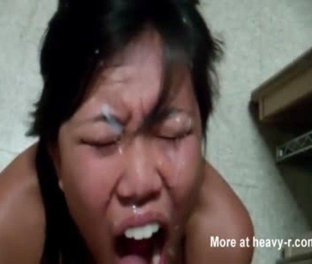 Pinay Taking Facial