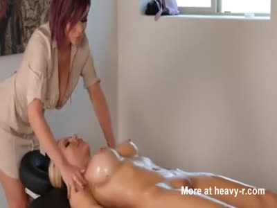 Hot Oily Massage Turns Into Lesbian Sex