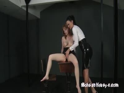 Hairy Redhead Slave Forced Masturbation