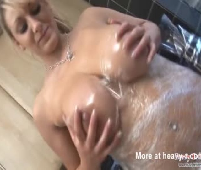 Busty Woman Wraps Herself In Cling Film
