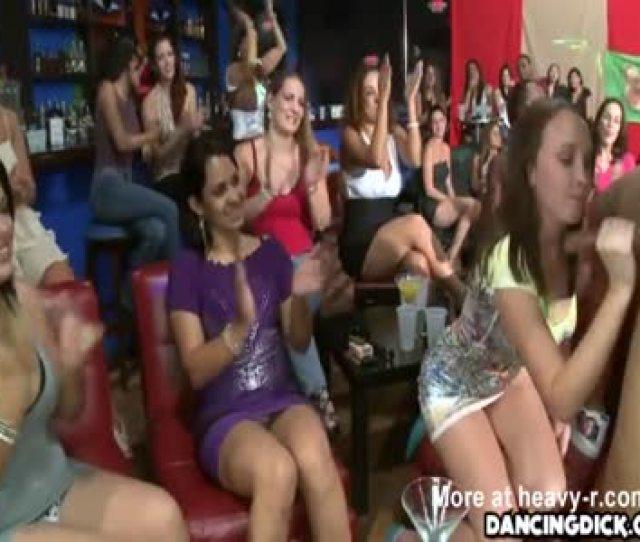 Horny Women Take Turns Sucking Cock
