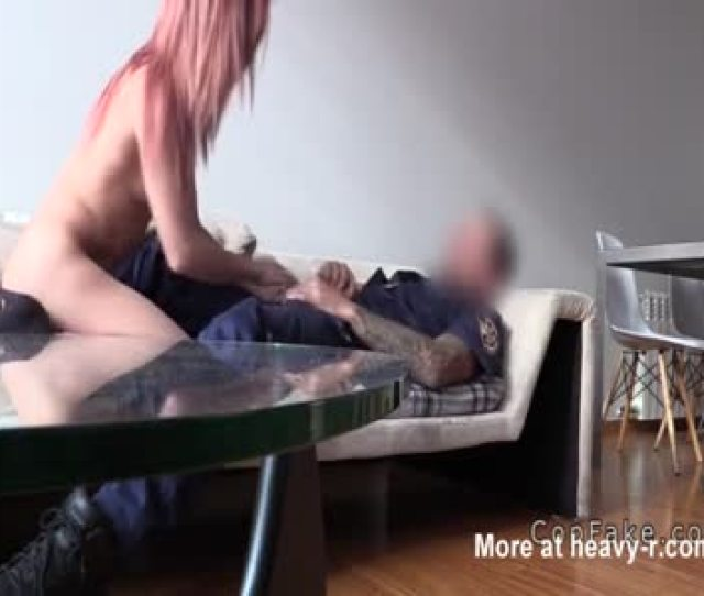 Fake Cop Giving Redhead Facial