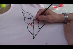 Anleitung Und Vorlage T Shirt Bemalen 1 Youtube