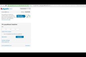 Video Mit Paysafecard Paypal Aufladen So Gehen Sie Vor