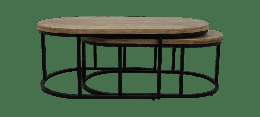 2 piece oval coffee table set city