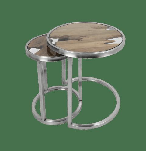 2 piece side table set vip old teak