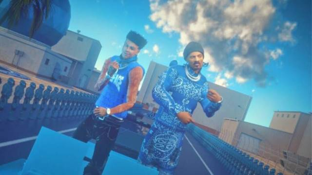 Blueface & Snoop Dogg Have A Dunk Competition & Drop Animated 'Respect My Cryppin' Video