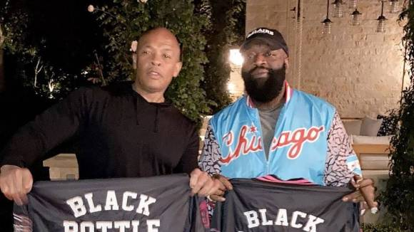 Dr. Dre & Top Dawg Clown Rick Ross After Los Angeles Lakers Defeat Miami Heat