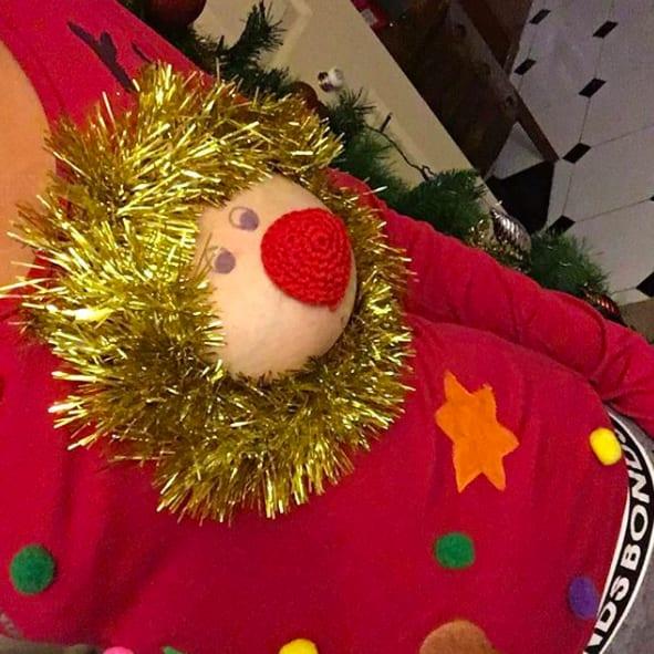 christmas boobs 18