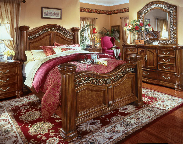 cordoba burnished pine bedroom set flexsteel wynwood furniture