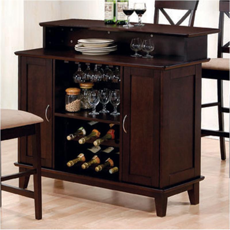 100218 coaster furniture mix and match cappuccino bar counter