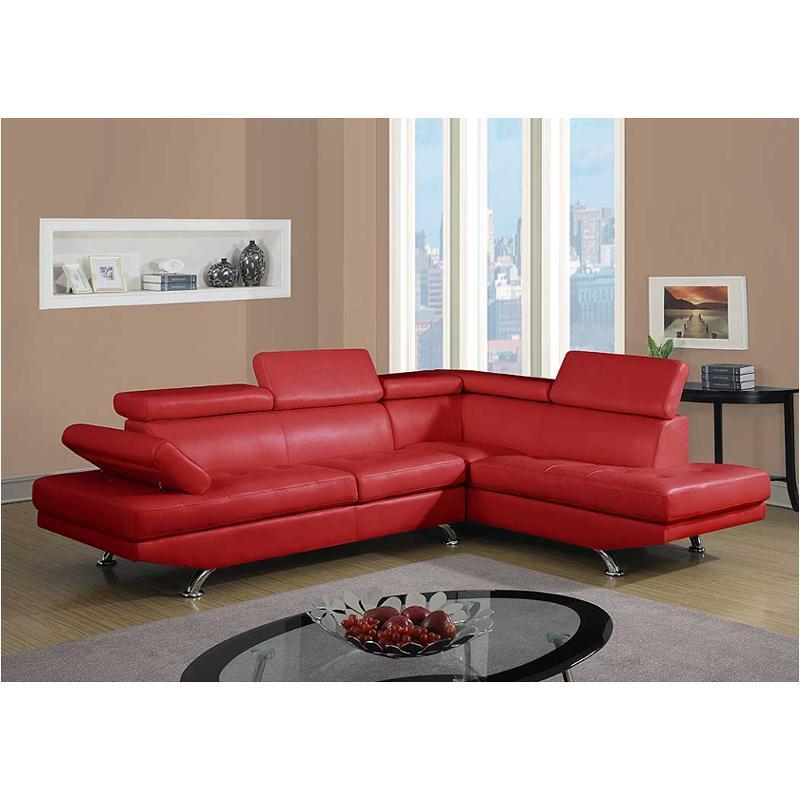 u9782 sectional lf bonded red global furniture u9782 bonded red sectional laf loveseat bonded red