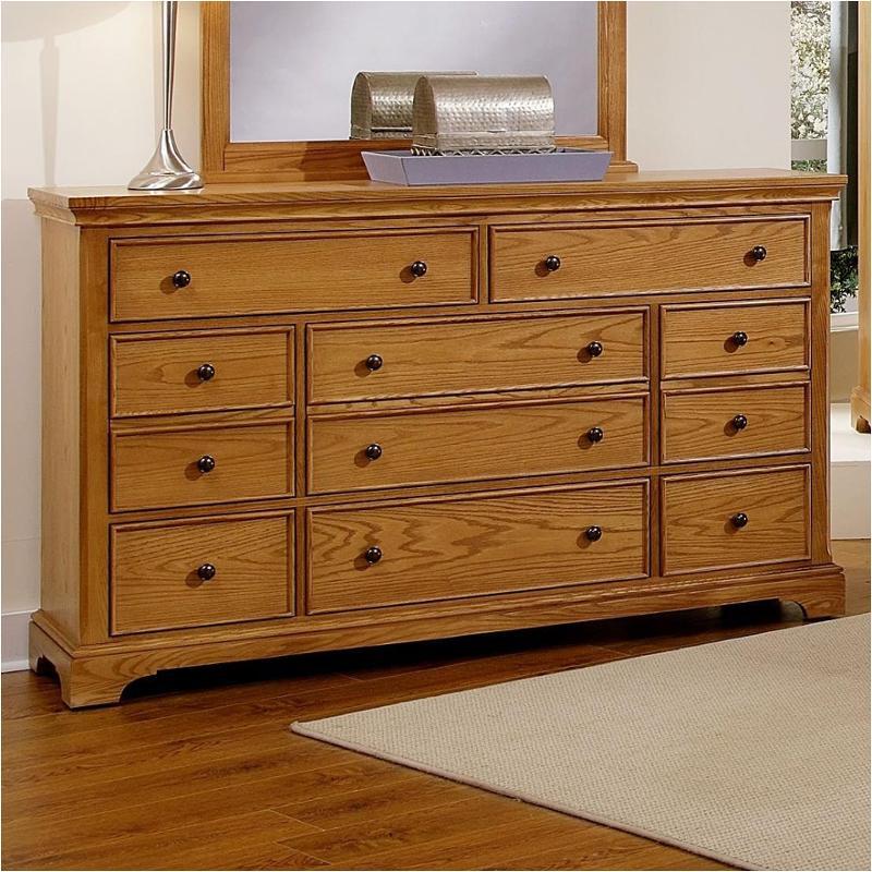 bb75 003 vaughan bassett furniture forsyth medium oak dresser 8 drawers medium oak