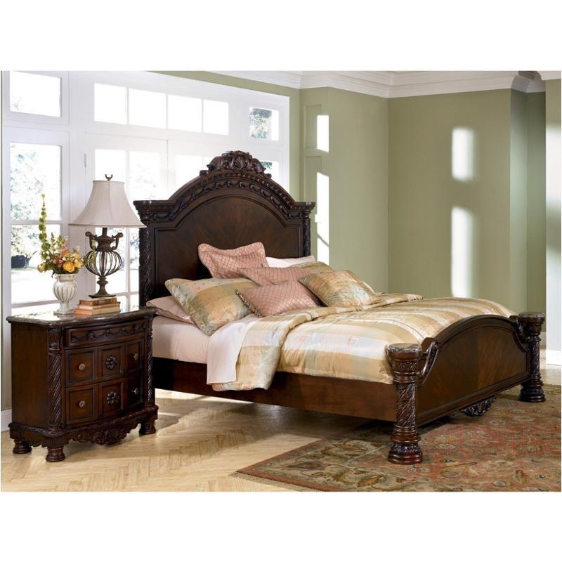 b553 194 ashley furniture north shore dark brown california king panel rails