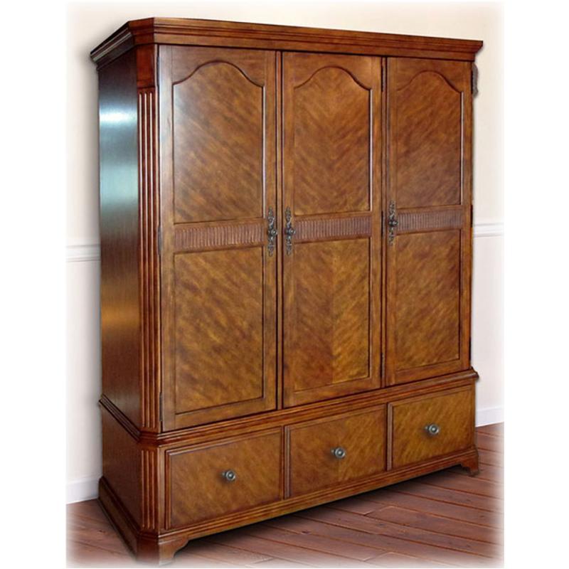 b429 482 ashley furniture wyatt wardrobe sides shelves hanger rod